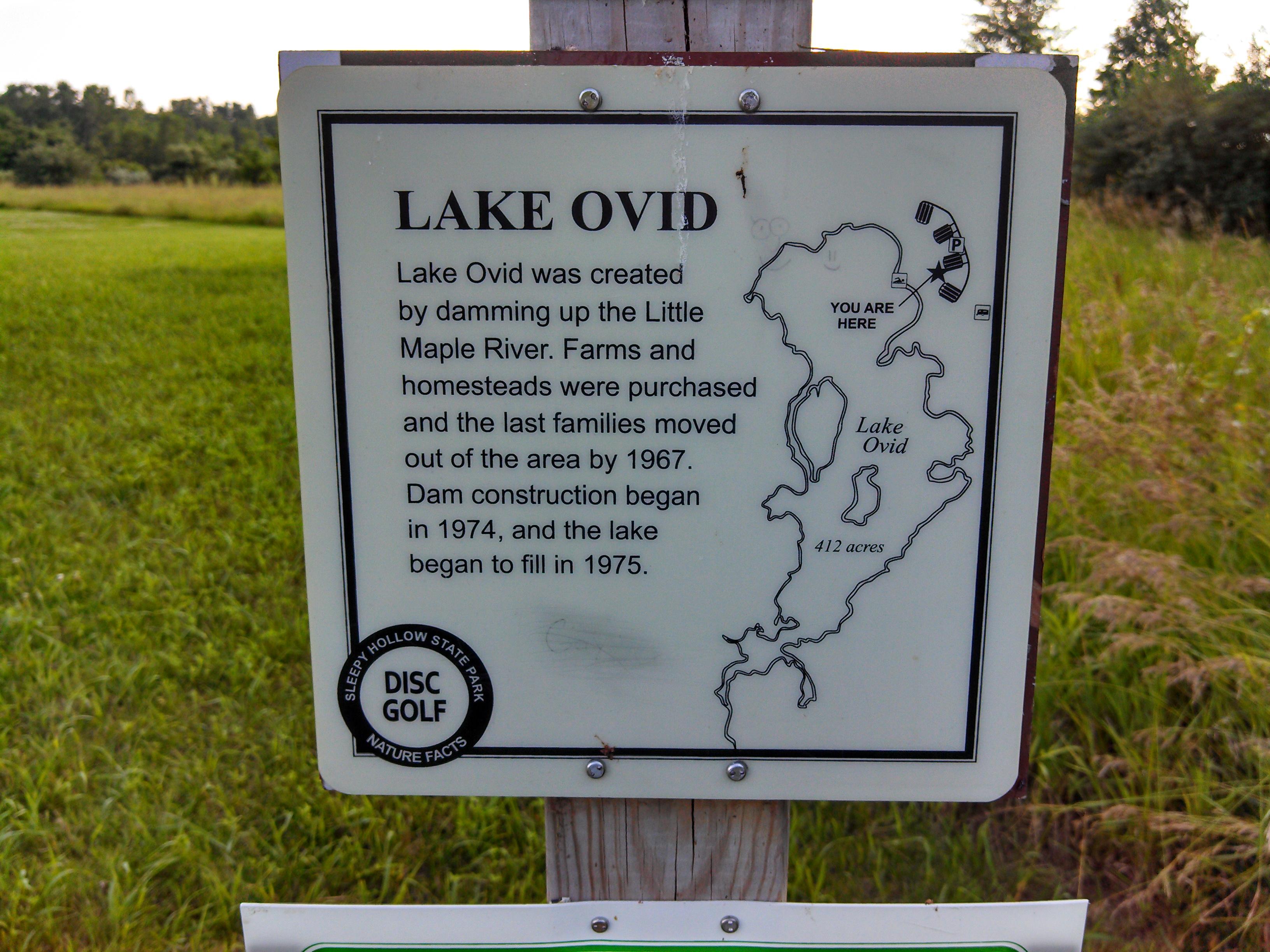 History of Lake Ovid