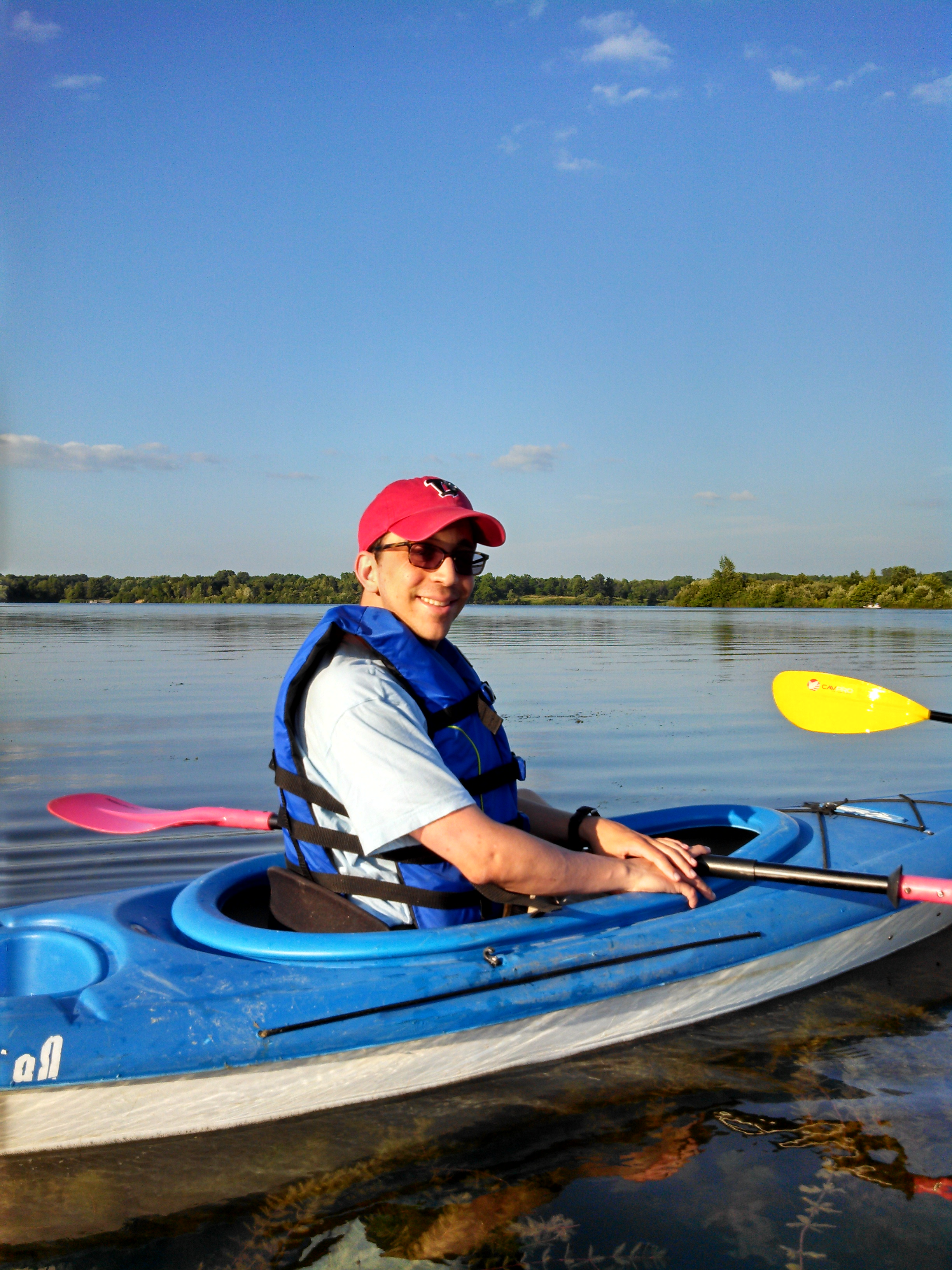 Me in a kayak on Lake Ovid