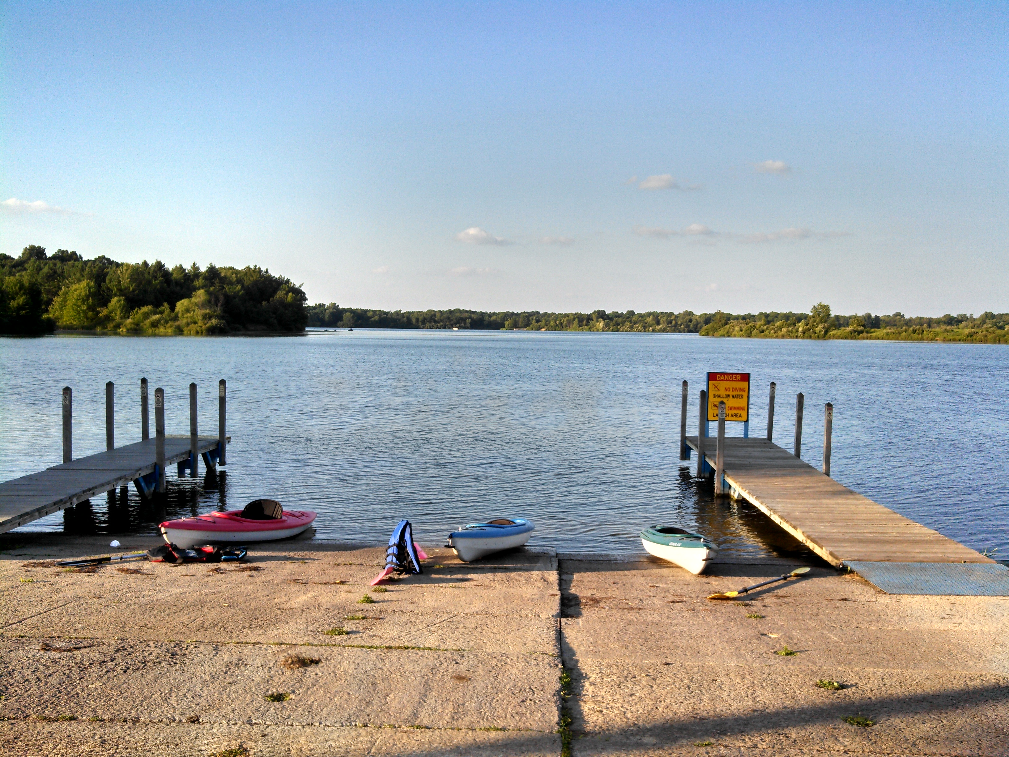 Kayaks and Lake Ovid View