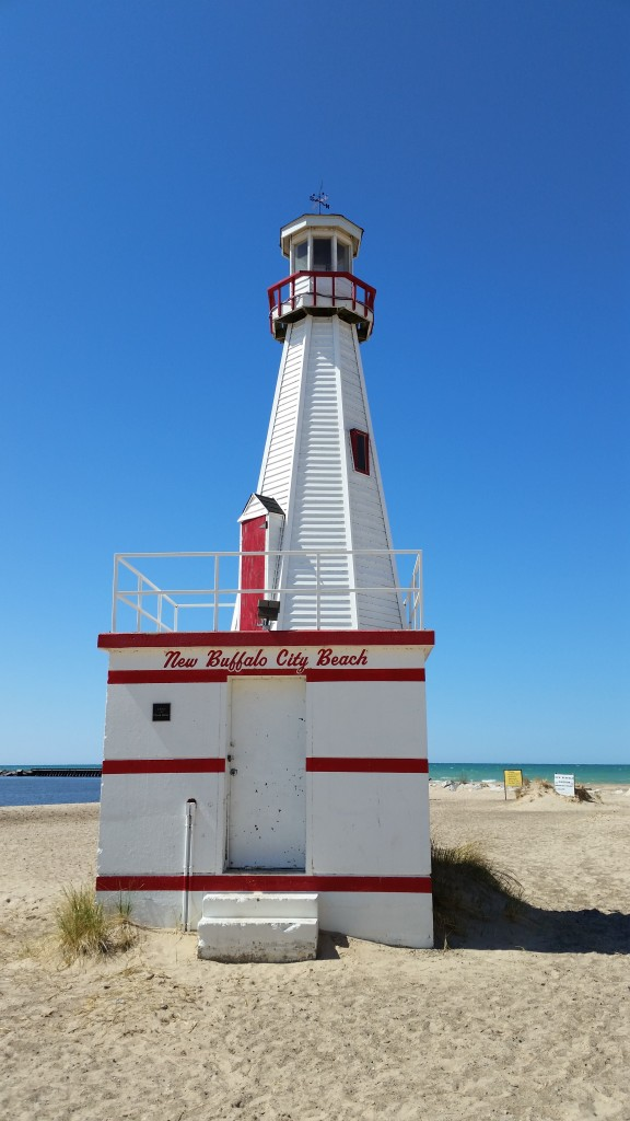 Lighthouse at New Buffalo Beach