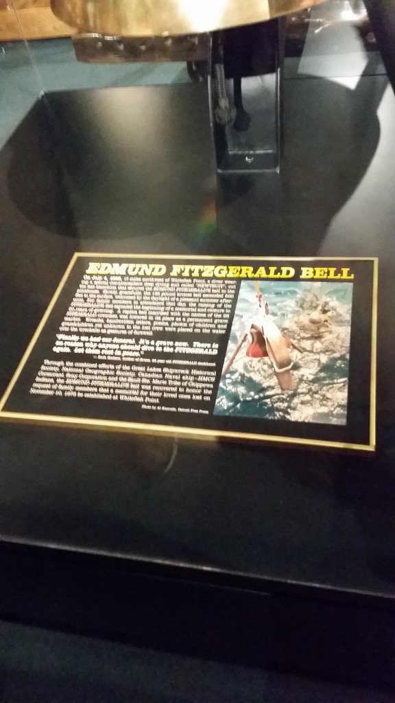 Caption for the Edmund Fitzgerald bell